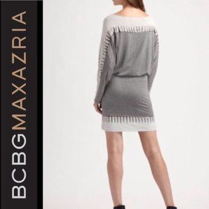 BCBGMaxAzria Gray Cotton Studded Dress XS
